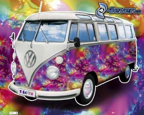 Volkswagen Type 2, hippies