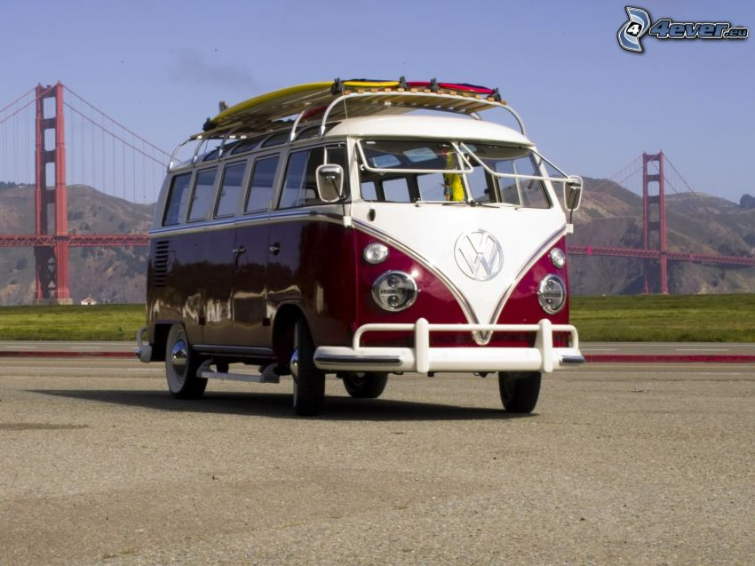 Volkswagen Type 2, oldtimer, Golden Gate