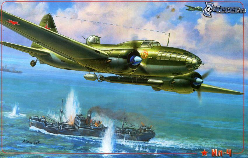 aircraft, ship