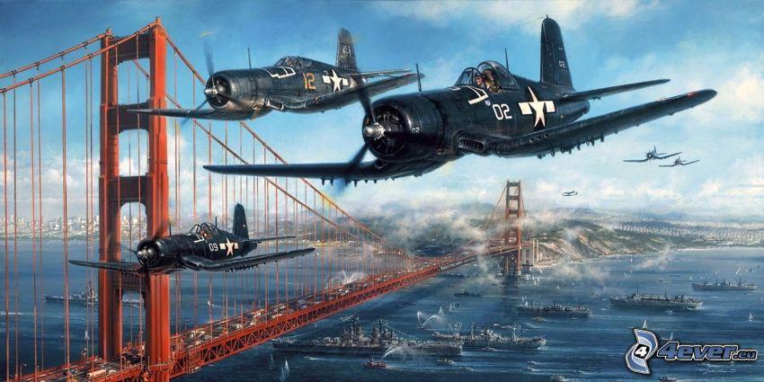 airplanes, Golden Gate