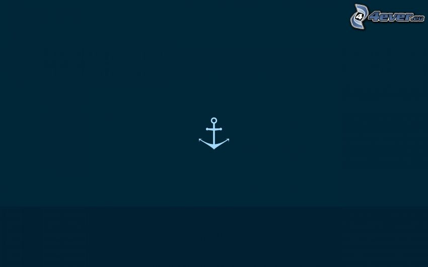 anchor, blue background