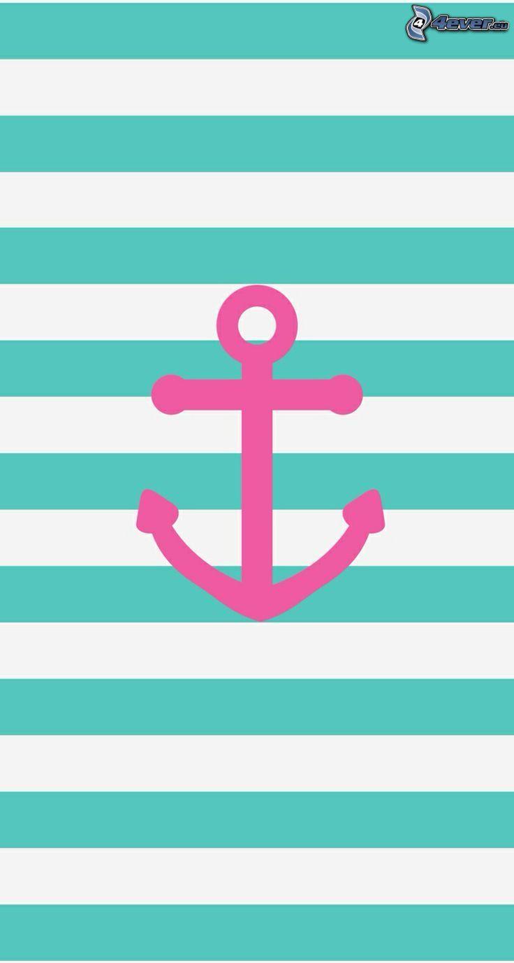 anchor, blue stripes, white stripes