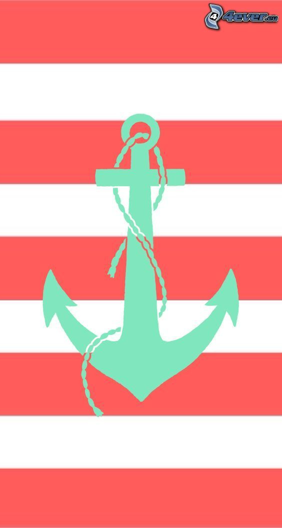 anchor, colored stripes