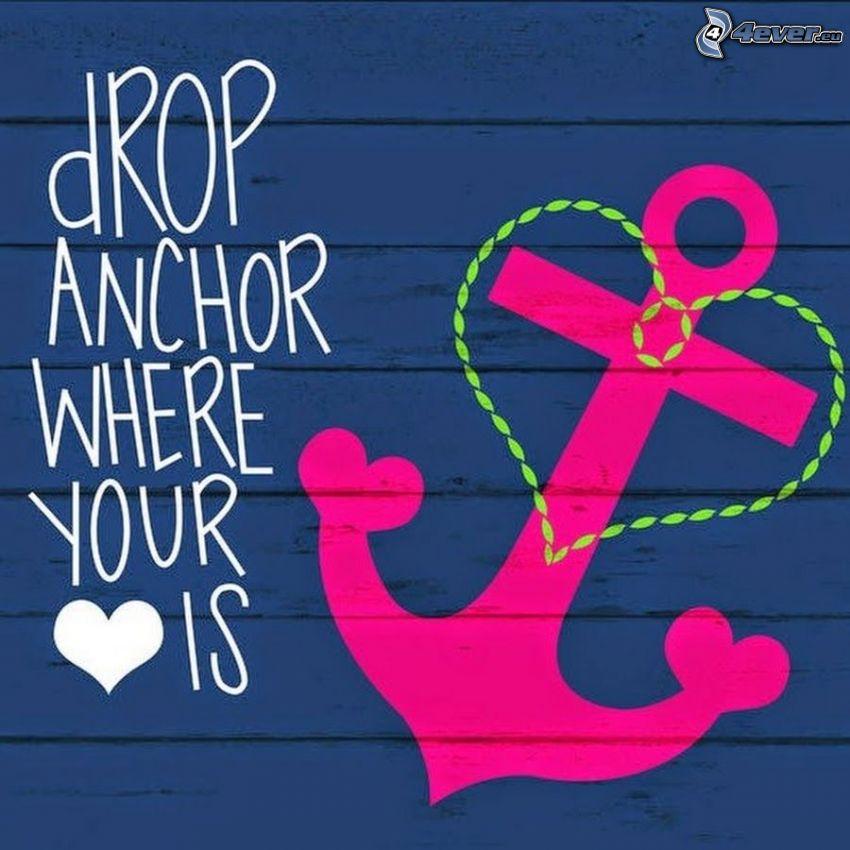 anchor, heart