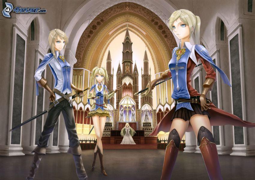 anime, church