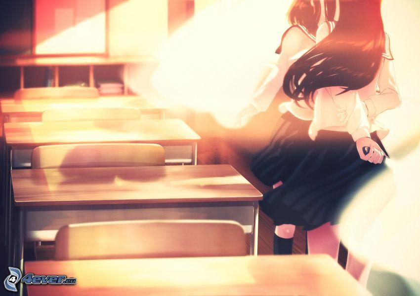 anime girl, class