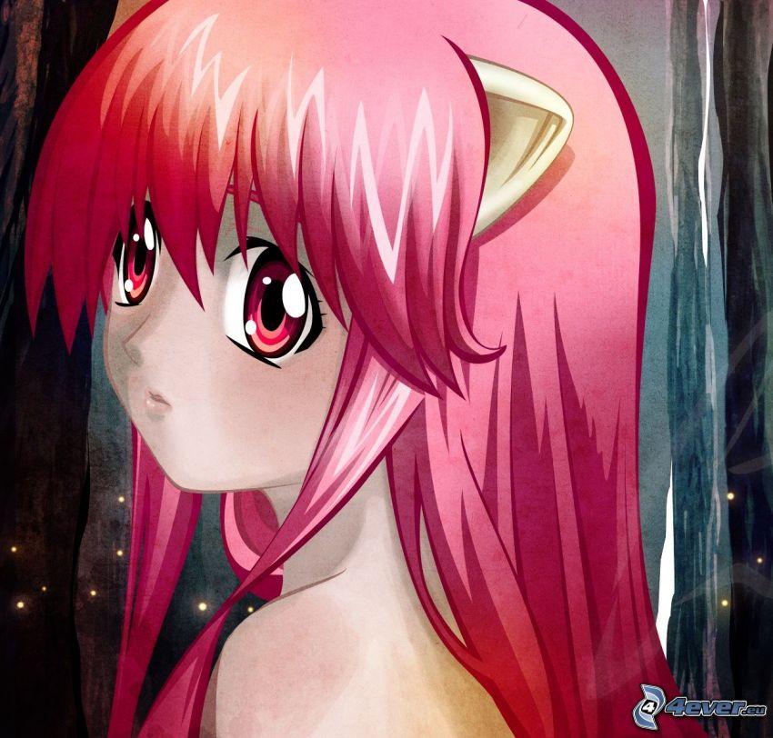 Elfen Lied, anime girl