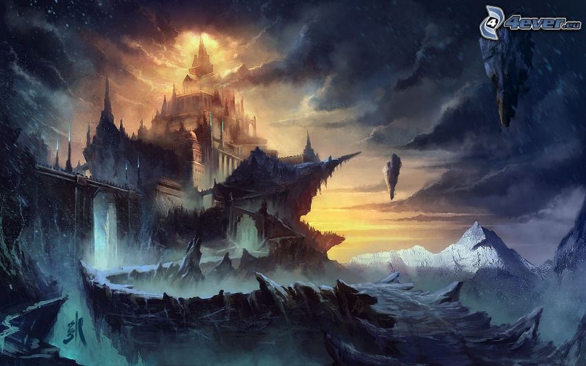 fantasy castle, fantasy land