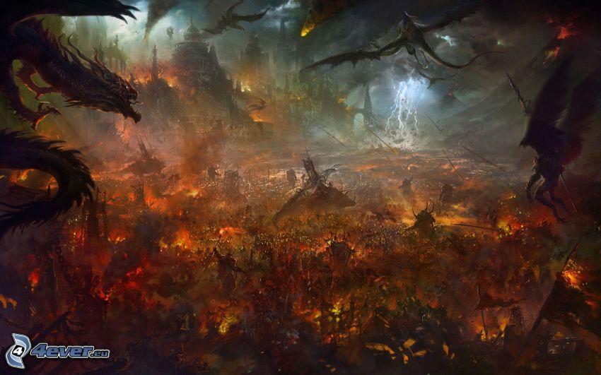 fantasy land, dragons