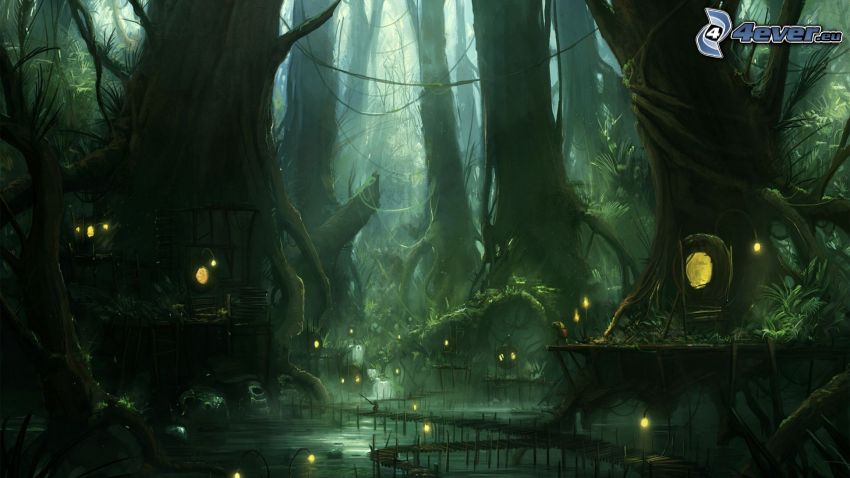 fantasy land, forest