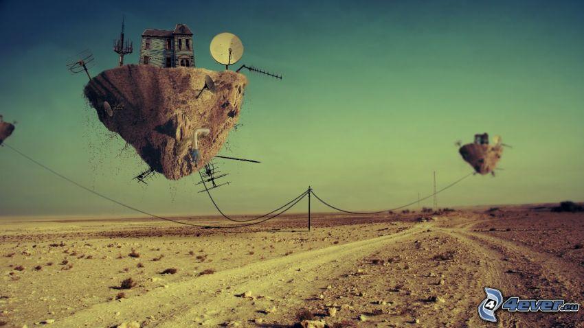 flying islands, road