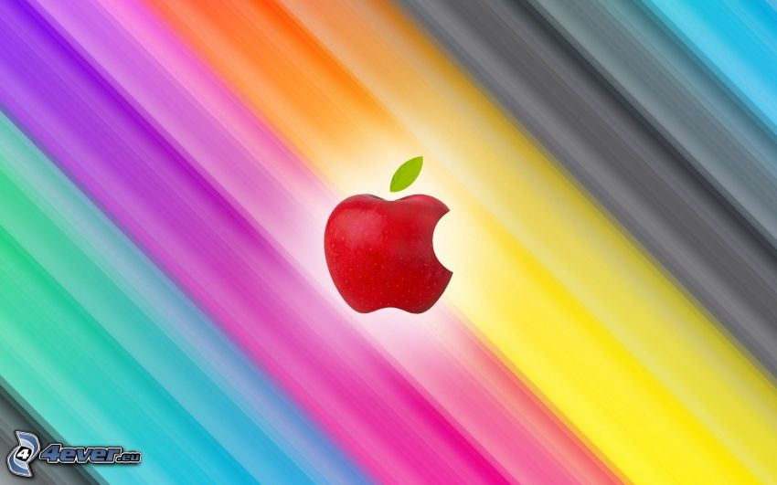Apple, colored stripes