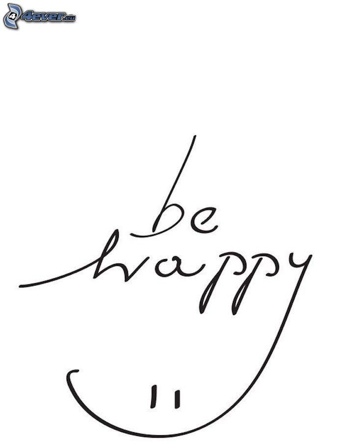 be happy, smiley