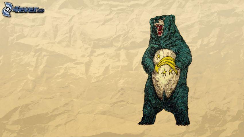 bear, comet, stars
