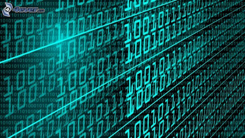 binary code, numbers