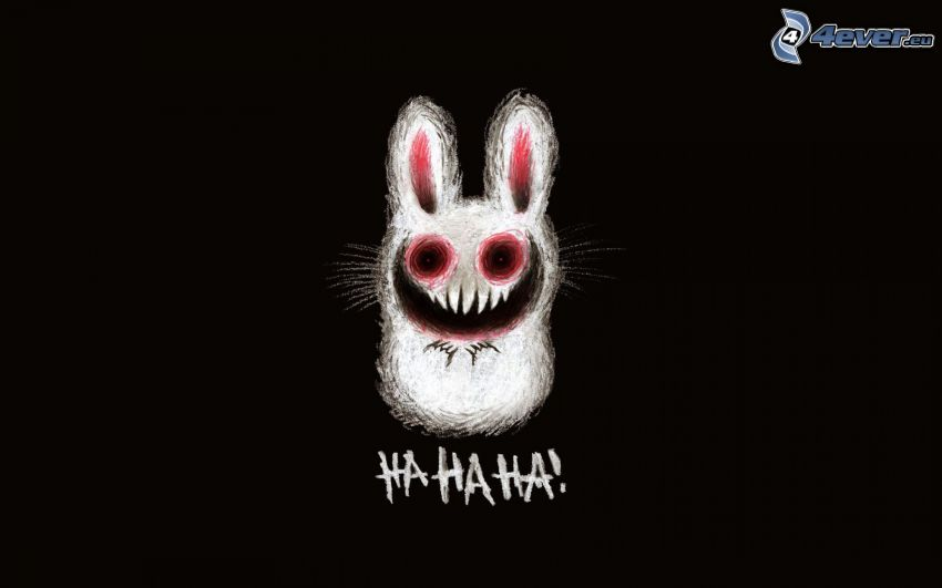 cartoon bunny, laughter