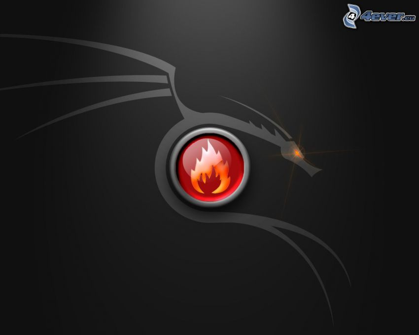 cartoon dragon, fire