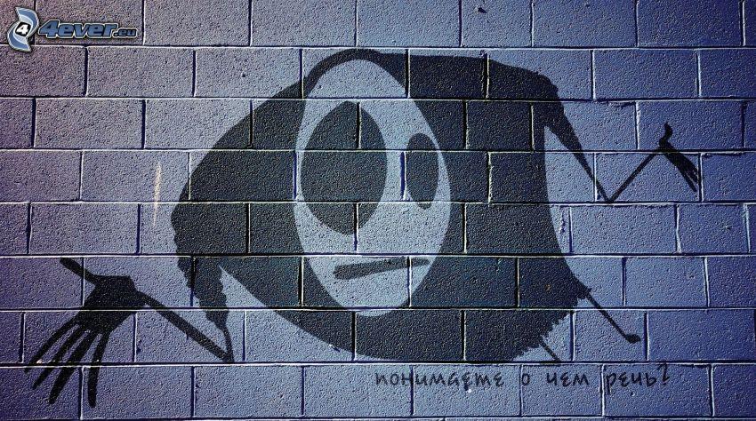 character, wall