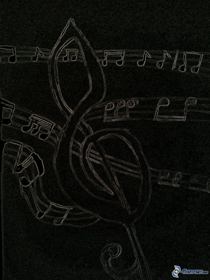 clef, sheet of music