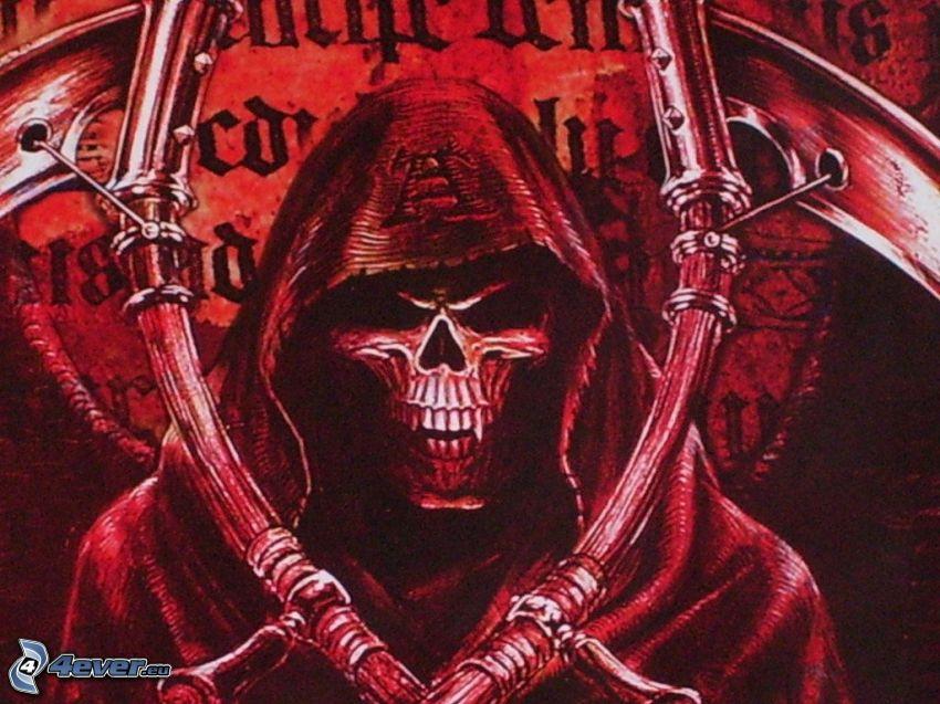 death, Grim Reaper, evil, demon, skull, scythe