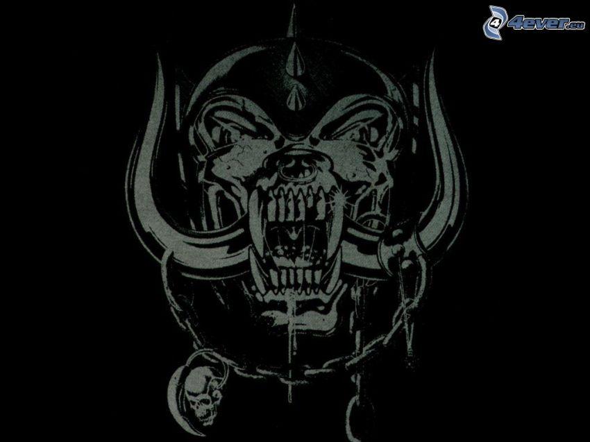 emblem, skull