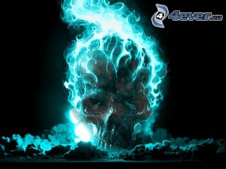 Ghost Rider, fire, skull