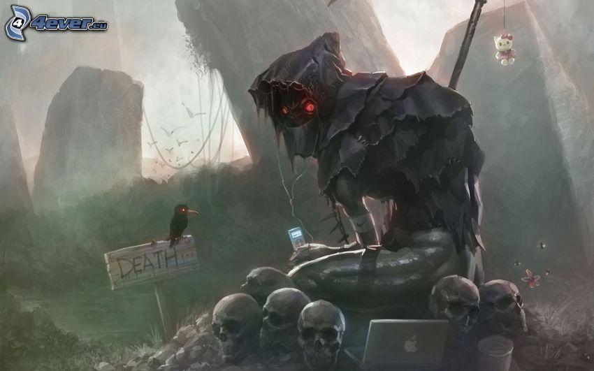 Grim Reaper, skulls