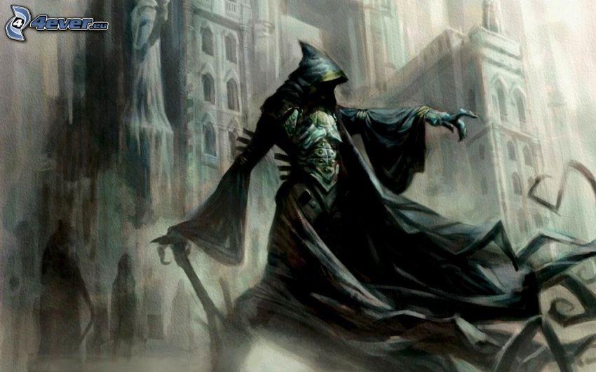 Grim Reaper, skyscrapers