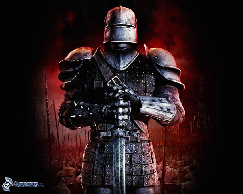 knight, warrior, sword