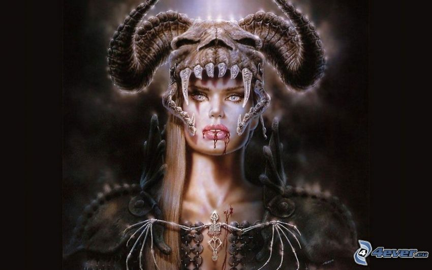 monster, woman, Luis Royo