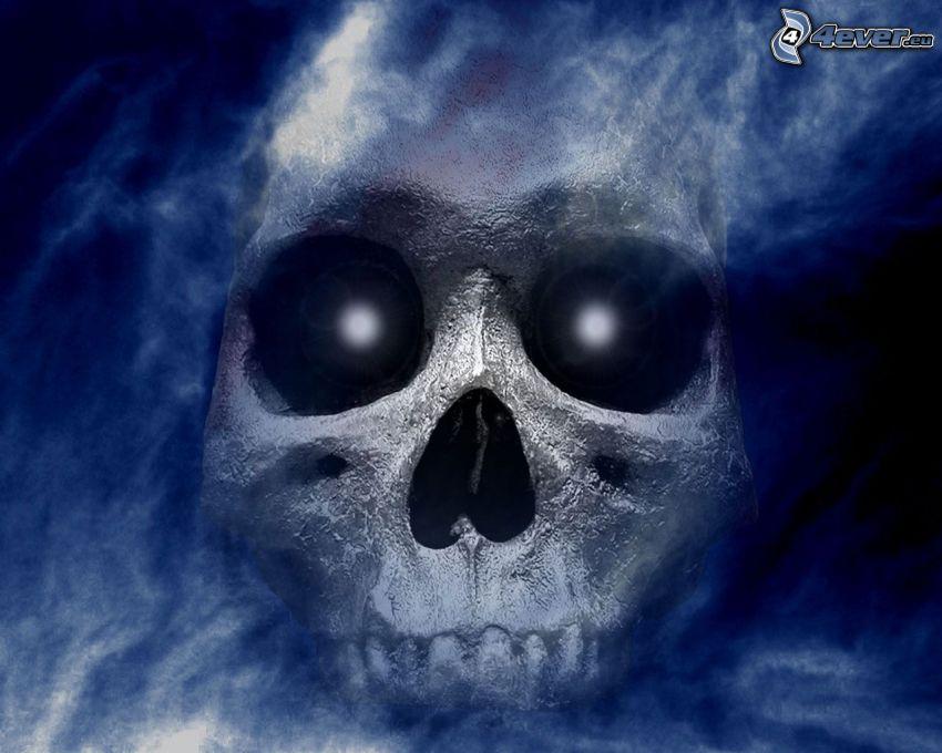 skull, death, sky, soul