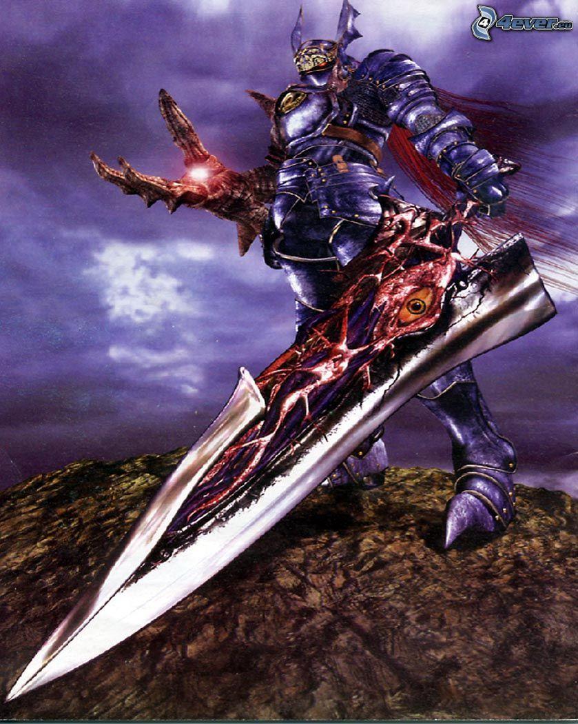 Soul Calibur, demon, monster, knight, sword
