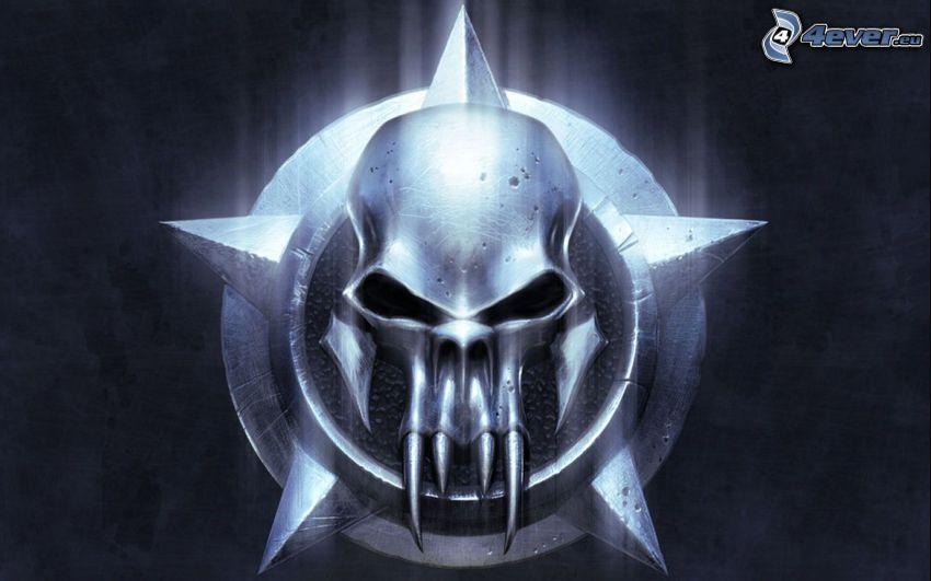 Warrior, Grim Reaper, skull, evil