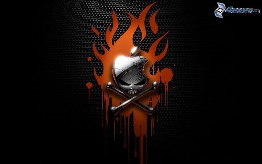 Apple, pirate, fire