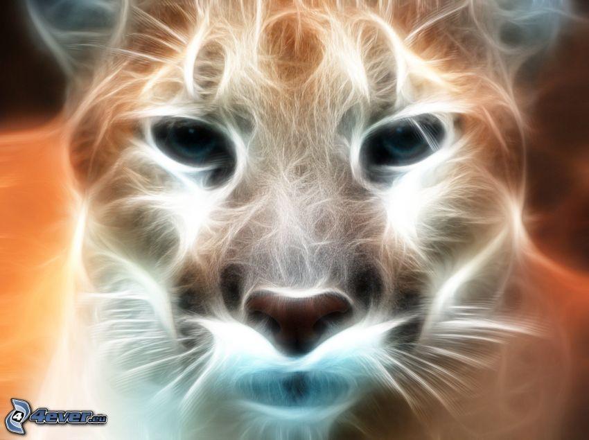 cougar, fractal animals