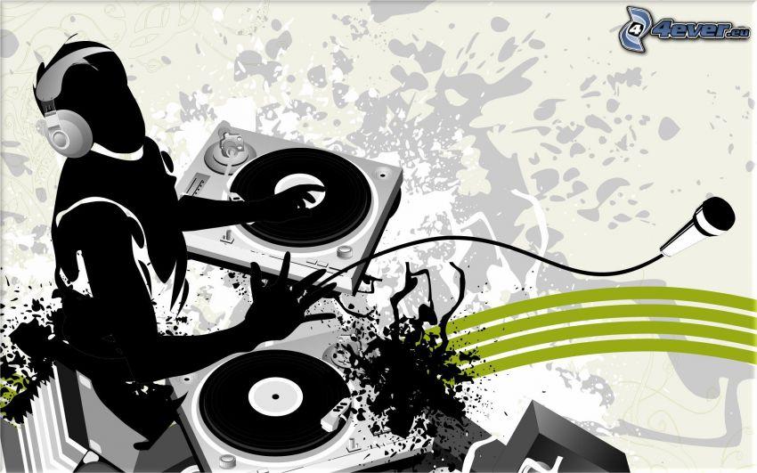 DJ, DJ console, disco