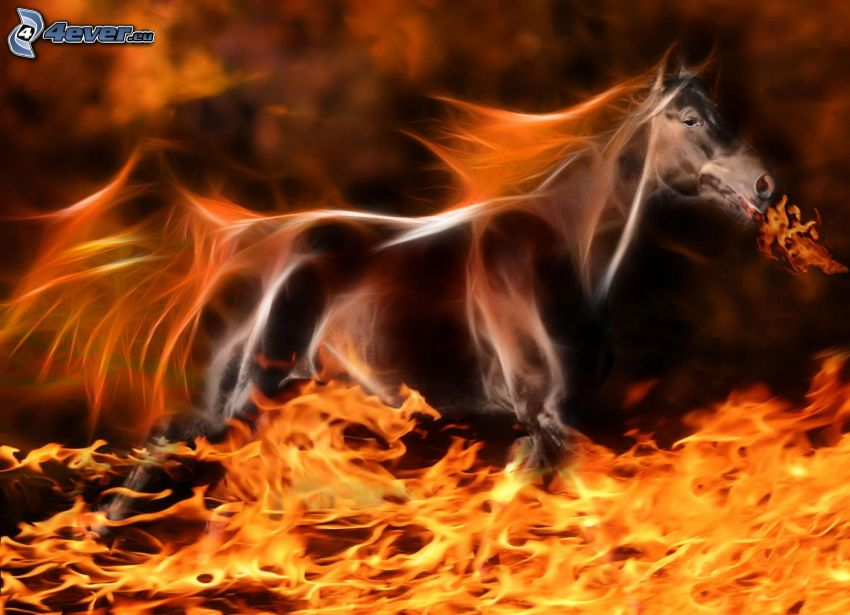 firehorse, fractal animals