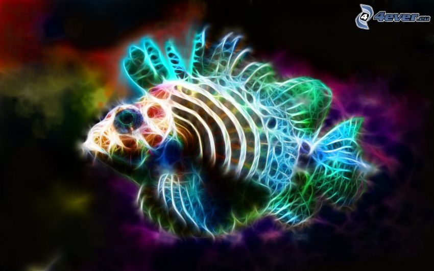 fish, fractal animals