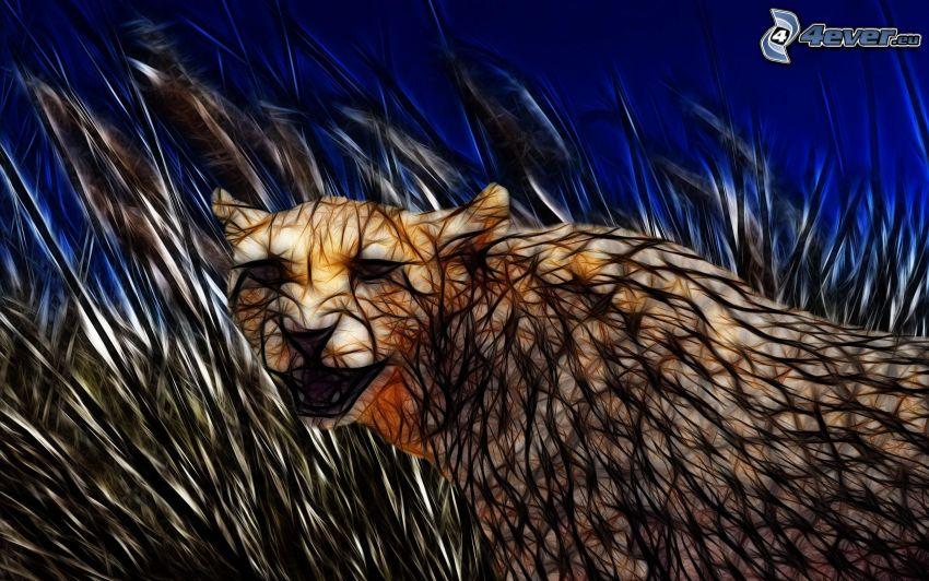 fractal cheetach