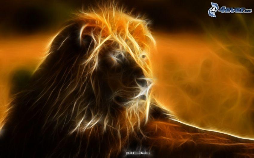 fractal lion