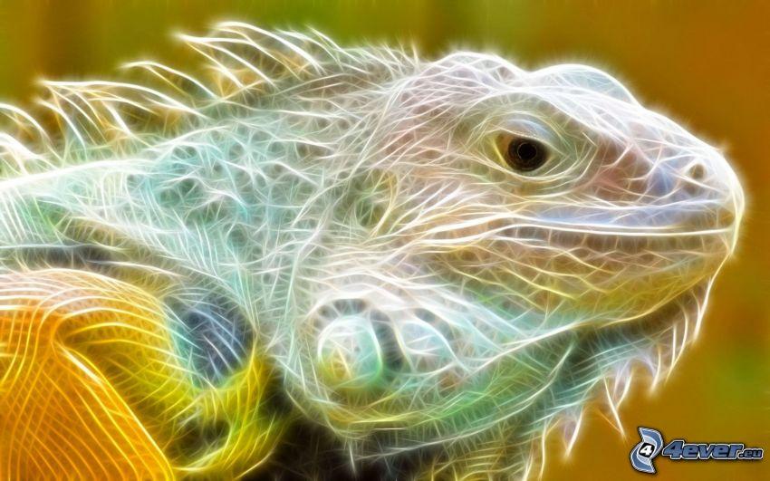 fractal lizard