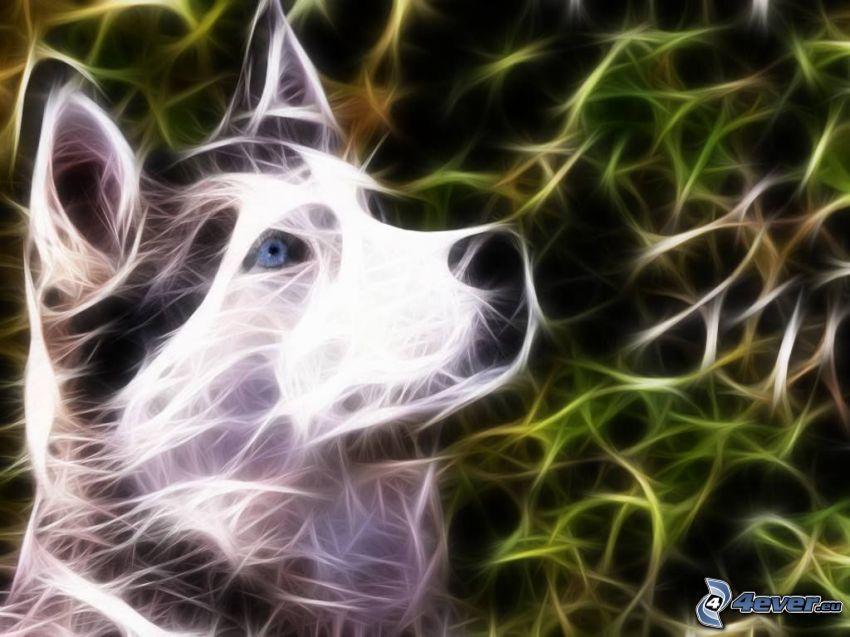 fractal wolf, look