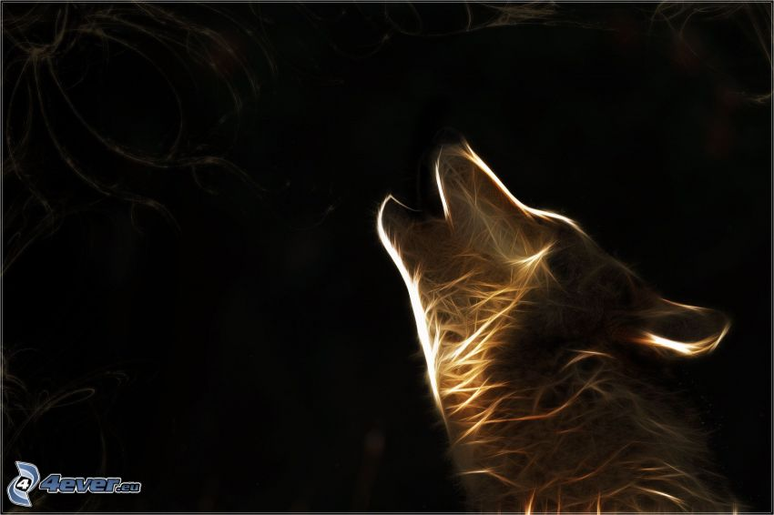 fractal wolf, whine