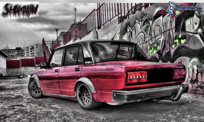 Lada, tuning, graffiti