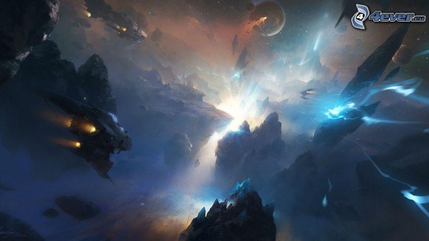 missiles, universe, sci-fi