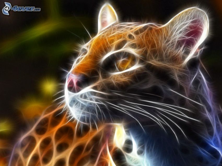 ocelot, fractal animals