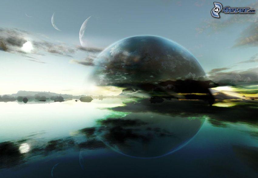 planet, lake