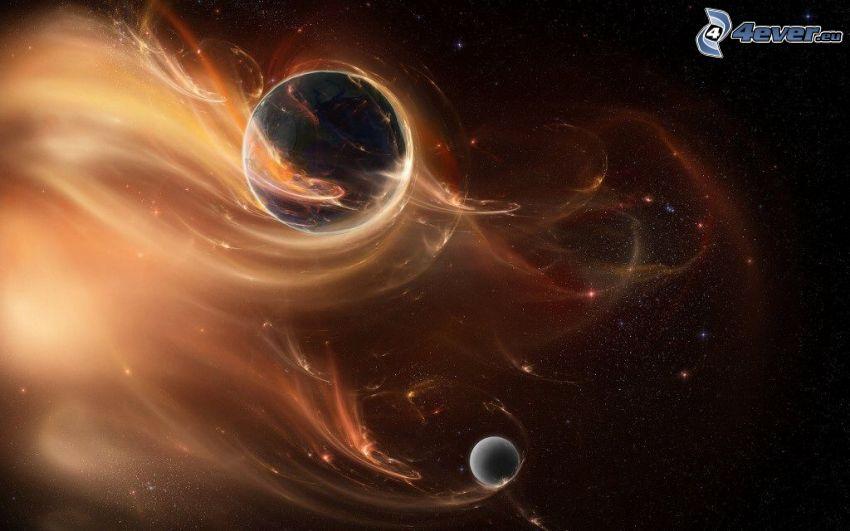 planet Earth, planet, glow