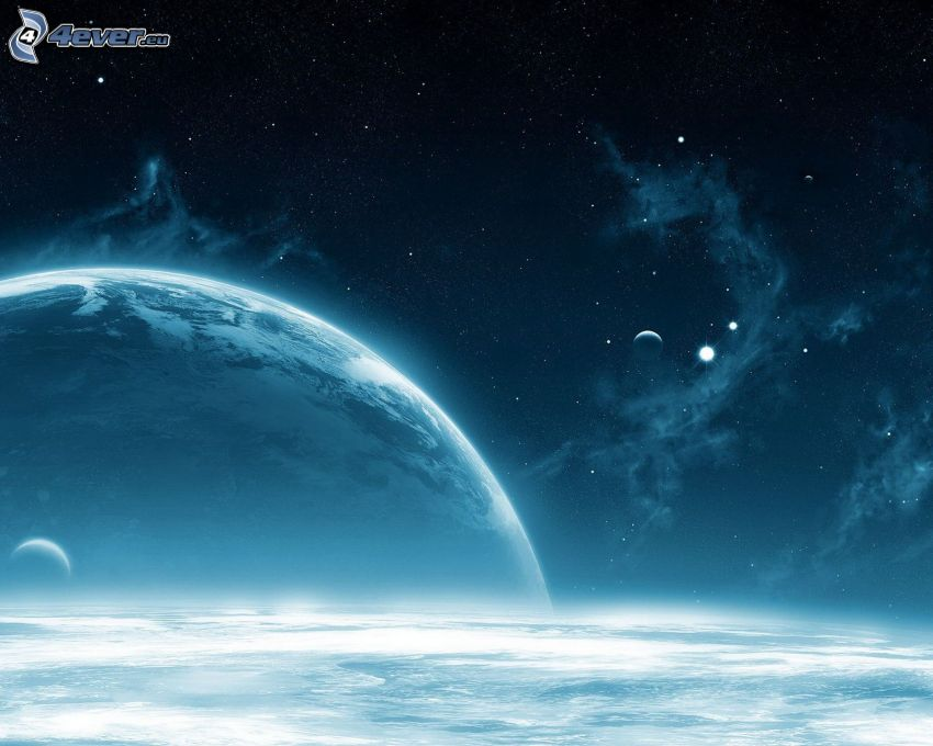 planets, starry sky