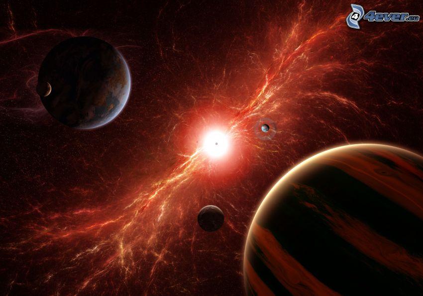 planets, sun